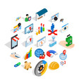 Interface sign icons set isometric style vector image
