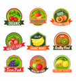 labels with fruits vector image