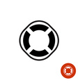 Lifebuoy round black simple silhouette icon symbol vector image