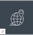 local seo line icon vector image