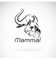 mammal group design on white background elephant vector image vector image