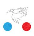 one line north america design silhouette vector image vector image