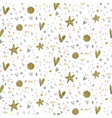 seamless pattern with fireworks confetti vector image