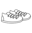 sneakers icon design vector image