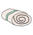 spa bath towel vector image