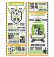 sport game ticket for soccer match vector image vector image