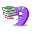 student with book paper cut number nine letter vector image