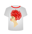T Shirt Template Valentine hair vector image vector image