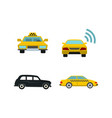 taxi car icon set flat style vector image