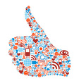 Thumb up Social media vector image vector image