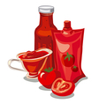 tomato ketchup and sauce vector image vector image