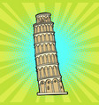 tower of pisa italy tourism vector image vector image