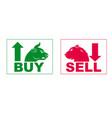 trading diagram character bear sell and bull buy vector image vector image