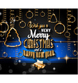 2015 Christmas Greeting Card for happy Holidays vector image vector image
