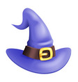 3d cartoon witch hat halloween children costume vector image vector image