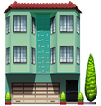 A tall commercial building vector image vector image