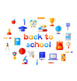 back to school background with education icons vector image