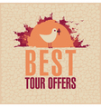 Best Tours Offers vector image vector image
