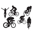 biker cycling ride road bike celebration black vector image