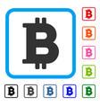 bitcoin framed icon vector image vector image