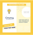 bulb company brochure template busienss template vector image vector image
