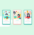 child finance flat onboarding mobile app page vector image