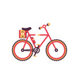colorful bike modern bicycle vector image