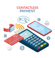 contactless payment concept wireless vector image