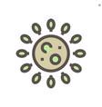 coronavirus icon design 48x48 pixel perfect and vector image