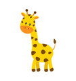 cute cartoon giraffe isolated vector image vector image