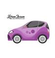 cute of city car design purple series vector image vector image
