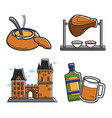 czech republic country symbols food and drink vector image vector image