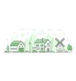 eco farming - thin line design style vector image vector image