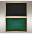 empty green chalkboard blackboard vector image