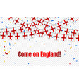 england garland flag with confetti on transparent vector image vector image