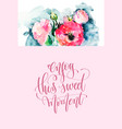 enjoy this sweet moment - hand lettering poster vector image