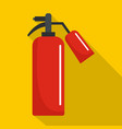 extinguisher icon flat style vector image vector image