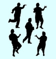 fat man gesture silhouette 01 vector image vector image