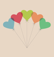 Five simple air balls in the shape of a heart vector image vector image