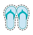 flip flops sandals icon image vector image vector image