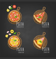 fresh pizza vector image vector image