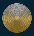 gold mandala in antique style set of golden rings vector image vector image