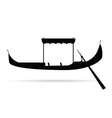 gondola silhouette vector image