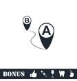 GPS icon flat vector image vector image
