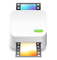 Icon for film scanner vector image