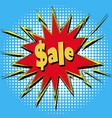 icons in pop art style on the theme of sale price vector image vector image