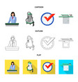 isolated object of laundry and clean logo set of vector image vector image