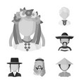 isolated object of person and culture icon vector image