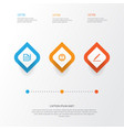 job icons set collection of pen leader contract vector image vector image