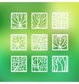 Leaves icons set vector image vector image